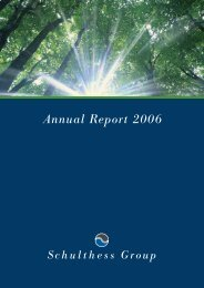 Annual Report 2006 (PDF) - Schulthess Group
