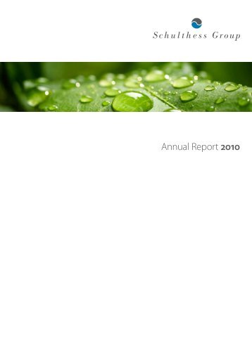 Annual Report 2010 (PDF) - Schulthess Group