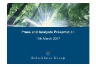 Download Press and Analysts Presentation 13th ... - Schulthess Group