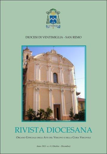 RIVISTA DIOCESANA - Diocesi di Ventimiglia - San Remo