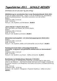 Tagesfahrten 2011 SCHULZ-REISEN