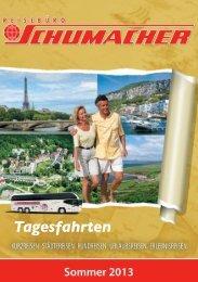 Tagesfahrten 2013 - Schumacher Reisen