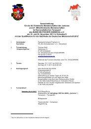 Ausschreibung für die 46. Fränkische Meisterschaften der Junioren ...
