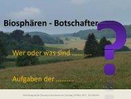 Präsentation Biosphären-Botschafter - Schwäbischer Albverein