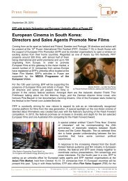 Directors and Sales Agents Promote New Films - European Film ...