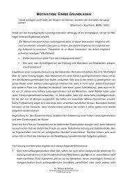 MOTIVATION: EINIGE GRUNDLAGEN - Dr. Schwan und Partner