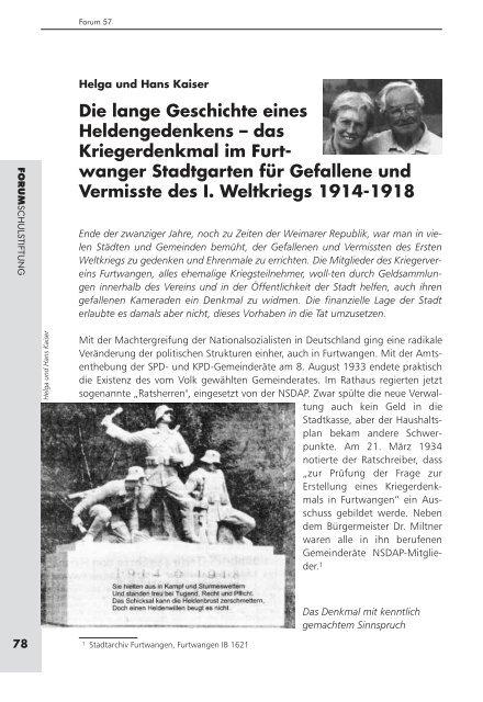 Die lange Geschichte eines Heldengedenkens – das Kriegerdenkmal im ...