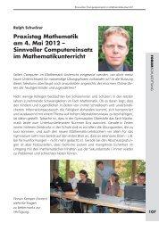 Praxistag Mathematik am 4. Mai 2012 – Sinnvoller Computereinsatz ...