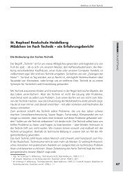 St. Raphael Realschule Heidelberg: Mädchen im Fach Technik – ein ...