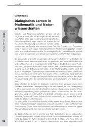 Dialogisches Lernen in Mathematik und Natur- wissenschaften ...