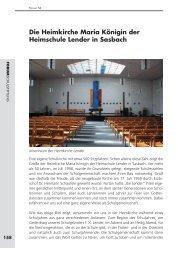 Die Heimkirche Maria Königin der Heimschule Lender in Sasbach ...