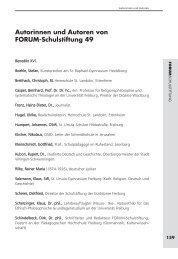 Autorinnen und Autoren von FORUM-Schulstiftung 49 - Schulstiftung ...