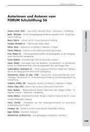 Autorinnen und Autoren vom FORUM Schulstiftung 56 - Schulstiftung ...
