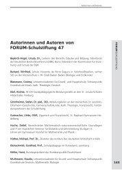 Autorinnen und Autoren von FORUM-Schulstiftung 47 - Schulstiftung ...