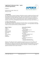 Application Performance Index – Apdex Technical Specification