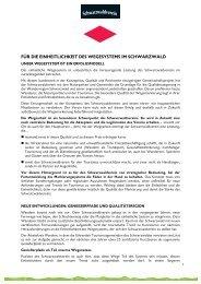 Positionspapier Wegenetz Juni 2012 - Schwarzwaldverein