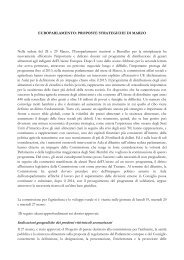 EUROPARLAMENTO: PROPOSTE STRATEGICHE DI ... - Inea