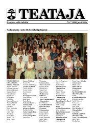 Haaslava valla infoleht Nr 7 (146) juuli 2006 ... - Haaslava Vald