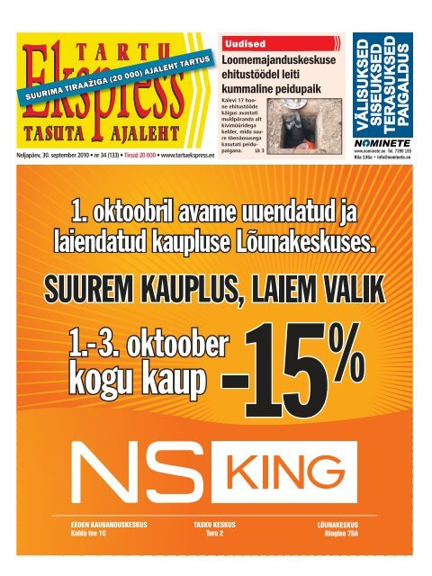 b89a0296bd7 30. september - Tartu Ekspress