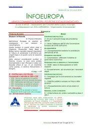 NEWS E COMMENTI SU EUROPA, POLITICHE ... - Cisl Lombardia