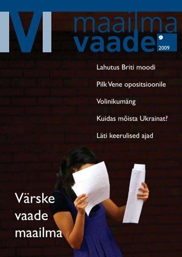Maailma Vaade Nr. 9 trükiversiooni .pdf lae alla