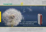 luft-wärmepumpe in splitbauweise - Schweigatz GmbH Heizungs