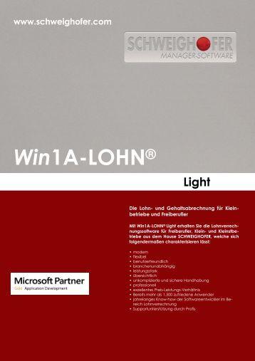 Win1A-LOHN® Light - SCHWEIGHOFER Manager