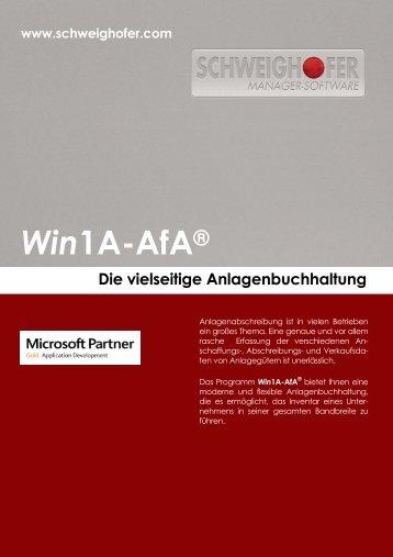 Win1A-AfA® - SCHWEIGHOFER Manager