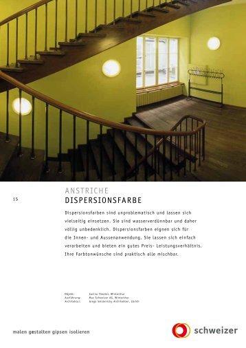 anstriche Dispersionsfarbe - Schweizer AG