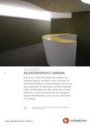 EDELPUTZE KaLKfEinvErPUTZ Carrara - Schweizer AG