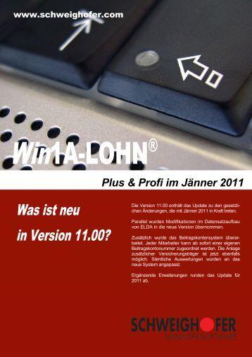 Was ist neu in Version 11.00? - SCHWEIGHOFER Manager