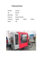 Maschinenaufstellung mechanische Bearbeitung - Schweikert GmbH