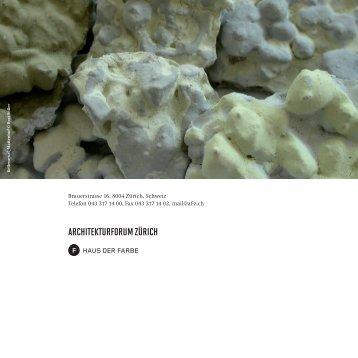 Architekturforum Zürich - Schweizer AG