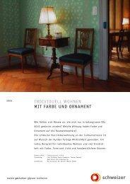 individuell wohnen mit farbe und ornament - Schweizer AG