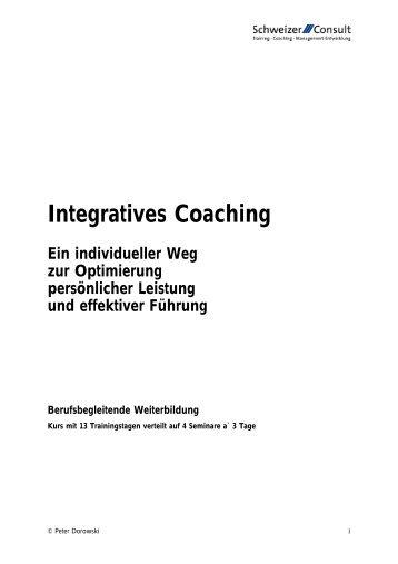 Integratives Coaching - Schweizer Consult und Schweizer Akademie