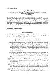 7.02 Friedhofsatzung und Gebührenverzeichnis.pdf - Schwetzingen