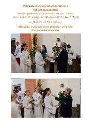 weitere Bilder als PDF - Schwestern von der Liebe Gottes
