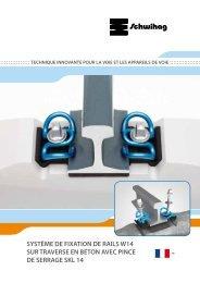 système de fixation de rails w14 sur traverse en béton ... - Schwihag