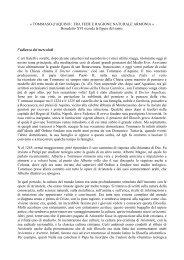 « TOMMASO d'AQUINO : TRA FEDE E RAGIONE ... - Emeronitti