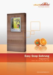 Easy Snap Gehrung - Easydisplay.com