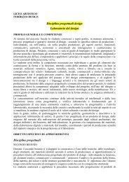 Design - Liceo Artistico Statale Catalano