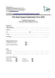 Film Sales Support Application Form 2012 - European Film Promotion