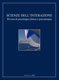 Scienze dell'Interazione anno 2010 n.1 - Scuola di specializzazione ...
