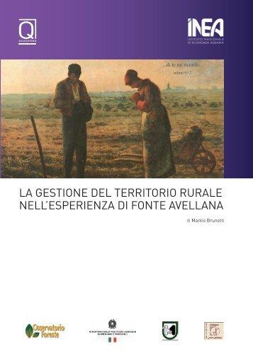 la gestione del territorio rurale nell'esperienza di fonte avellana - Inea