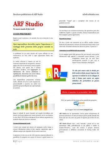 Brochure informativa - ARF Studio