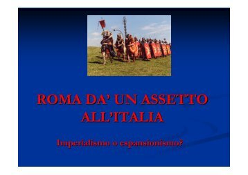 Assetto politico dell'Italia romana