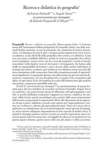 Ricerca e didattica in geografia* - Associazione Italiana Insegnanti ...