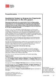 Presse-Info + Anlage Hbf Stg zur Bergung einer Fliegerbombe