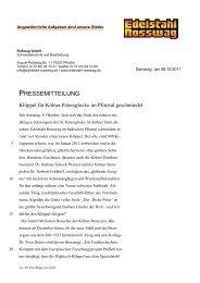 PRESSEMITTEILUNG - Edelstahl Rosswag