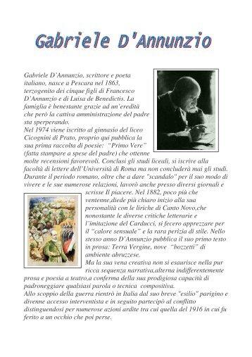 GABRIELE D'ANNUNZIO - Scuola Media di Piancavallo
